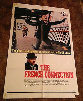 THE FRENCH CONNECTION Gene Hackman 1971 ONE SHEET MOVIE POSTER
