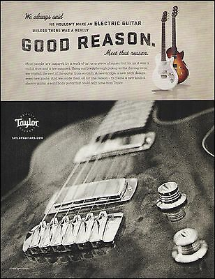 The Taylor Classic & Standard Electric Guitar 2008 ad 8 x 11 advertisement print