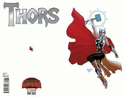 THORS #1, RENAUD ANT SIZED VARIANT, New, First print, Marvel Comics (2015)
