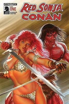 RED SONJA CONAN #1, Ross cover, New, First Print, DC Comics (2015)