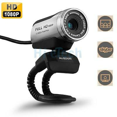 AUSDOM 1920x1080P Full HD USB2.0 Webcam PC Video Network Camera with Mic Skype