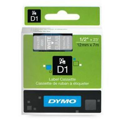 DYMO Dymo 45020 12mm x 7m White on Clear Tape