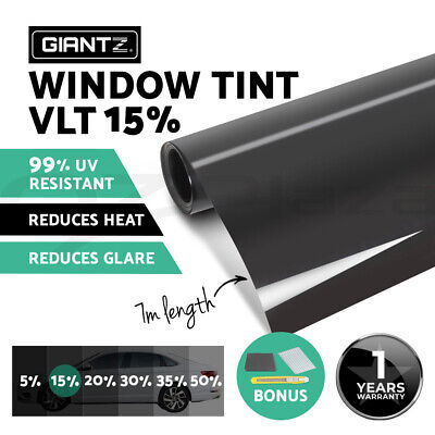 Window Tint Film Black Roll 15% VLT Car Auto Home 76cm X 7m Tinting Tools