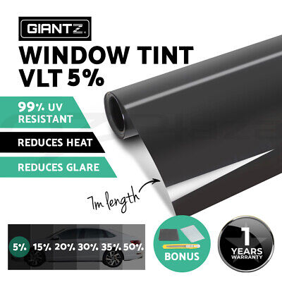 Window Tint Film Black Commercial Car Truck Auto House Glass 76cm X 7m VLT 5%
