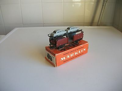 315/4G Crimson  Automobile Transporter With 3 Cars Only Marklin Ho Gauge (Boxed)
