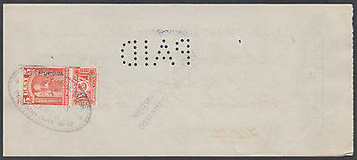 1913 Old Mexico Used Cheque / Check with Revenue Stamp per scans Ref: 012
