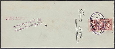 1905 Old Mexico Used Cheque / Check with Revenue Stamp per scans Ref: 014