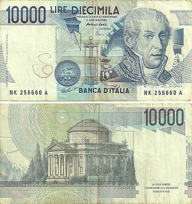 C-18-2, Italy 10,000 Lire 1984 P-112, See Below, F/circulated
