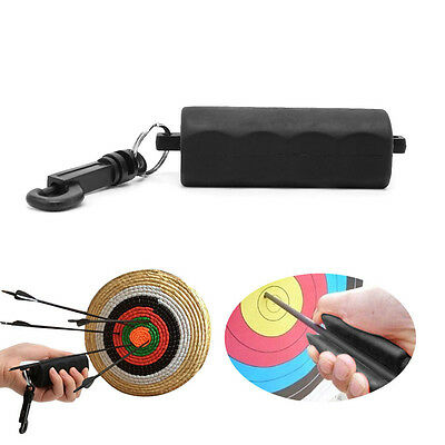 Black Silicone Archery Arrow Puller For Target Hunting Bow Shooting Keychain New