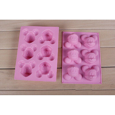 DIY mickey Mouse Lovely Ice Cookie Cube Tray Cake Mold Silicone Baking Tool