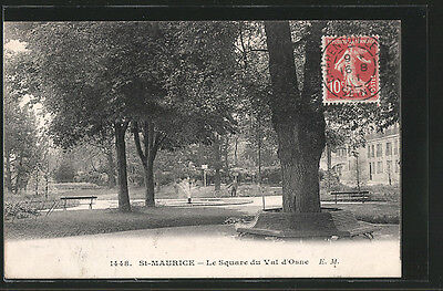 remarquable CPA St-Maurice, Le Square du Val d´Osne 1911