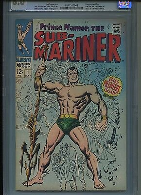 Sub-Mariner #1 (May 1968, Marvel)  CGC  8.0 VF Off-White Pages