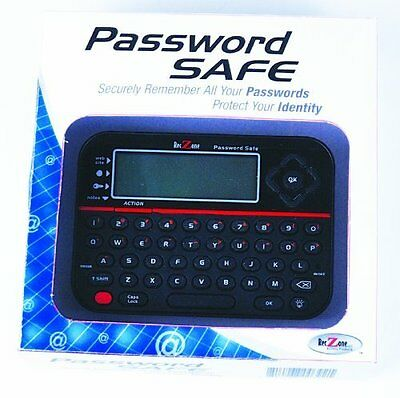 Password Safe - Password Vault Digital Qwerty Backlit LCD/Built In Flash Memory