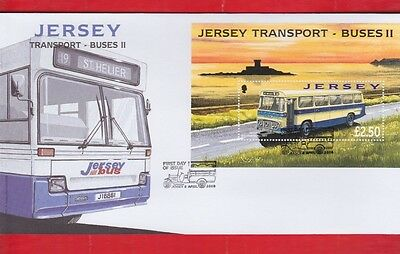Jersey, 8th April, 2008, Transport buses, Mini sheet, First day cover,