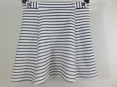 Girls River Island Black & White Stripe Skater Skirt  11-12 Years box5633 E