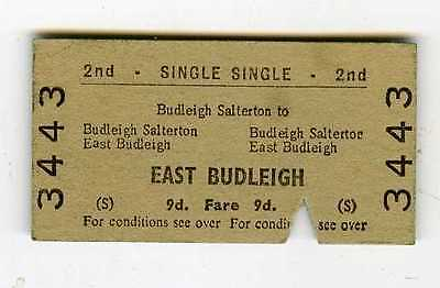 Railway ticket Budleigh Salterton to East Budleigh single 9d  dated 18 May 1964