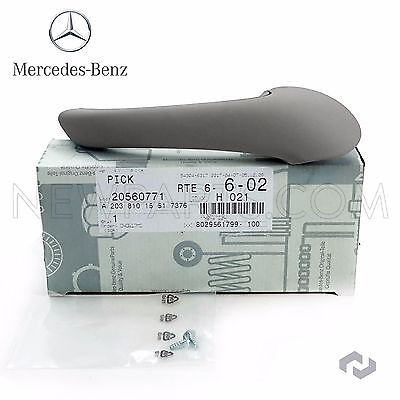 Mercedes W203 C230 Front Driver Left Inside Door Pull Handle Alpaca Gray Genuine