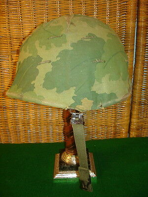 Vietnam M1 Helmet 1969 Liner, 1970 Cover W/warrent Officer Inked On Insignia