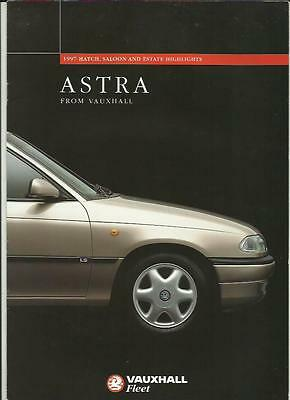 Vauxhall Astra Fleet Full Range Highlights Sales Brochure  1996 1997