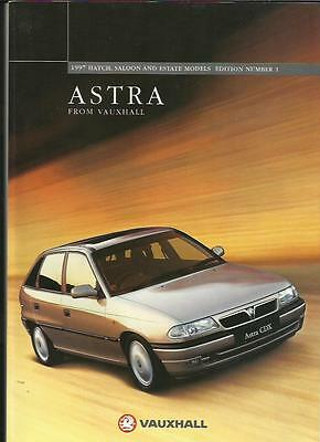 Vauxhall Astra Hatch, Saloon And Estate Models Sales Brochure 1996 1997