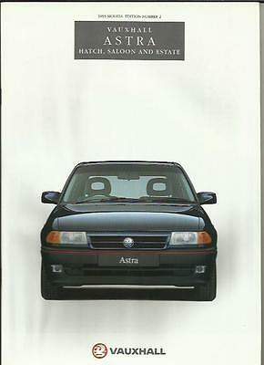 Vauxhall Astra Hatch, Saloon And Estate Models Car Sales Brochure April 1993
