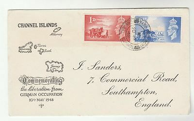 1948 GB CHANNEL ISLANDS LIBERATION FDC with SARK pmk , cover,  stamps
