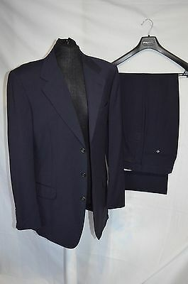 Gieves & Hawkes Navy Blue 100% Wool Lightweight 2 Piece Suit size 40/32
