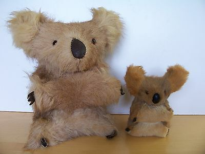 Real Fur Koala Bears - Mother and her Baby - Excellent Condition - No Damage.