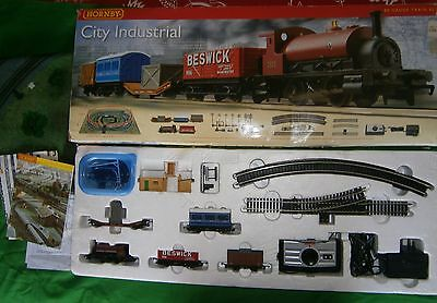 Hornby City Industrial Train Set with trak mat.