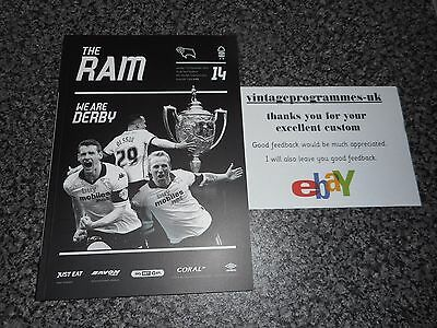 DERBY COUNTY  v  NOTTINGHAM FOREST  2016/17 DEC 11th  ****BEST PRICE ON EBAY****