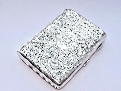 Splendid Antique Edwardian Hm Solid Silver Sterling Aide Memoire Birmingham 1903