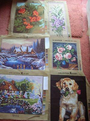 Tapestry Canvassses 6 in total New Assorted design,Makes & Sizes