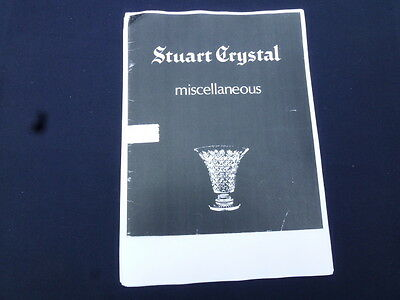 Stuart Crystal copy of  1950's/60's glassware catalogue