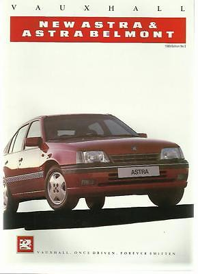 Vauxhall Astra And Astra Belmont Full Range Sales Brochure January 1989