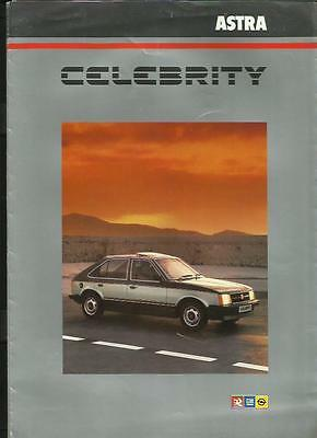 Vauxhall Astra Celebrity Special Edition Sales Brochure March 1984
