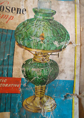 Vintage Glass Paraffin Oil Lamp L B  Brand Made In Hong Kong