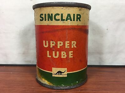 Vintage 1940's Gas & Oil Advertising Collectible Sinclair Upper Lube Tin Can