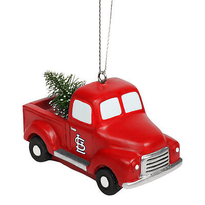 St. Louis Cardinals Truck With Tree Ornament - MLB