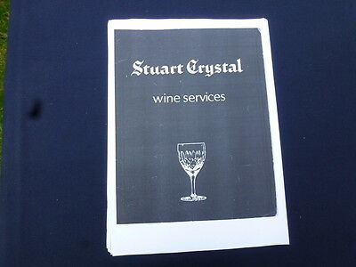 Stuart Crystal Catalogue of Wine Services