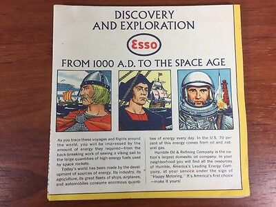 Vintage 1963 Esso Gas & Oil Collectible Discovery & Exploration Advertising Map