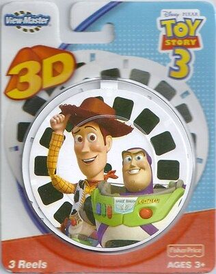 NEW ~ DISNEY ~ TOY STORY 3 ~ 3D VIEW-MASTER REELS ~ 3pk