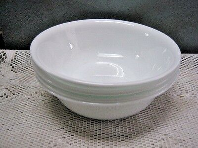 """Set Of 4 Corning Corelle Winter Frost White Soup Cereal Bowls 6-1/4"""" USA Vintage"""