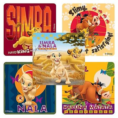 """25 Lion King Hakuna Matata Stickers, Assorted, 2.5""""x2.5"""" each, Party Favors"""