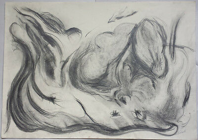 ABSTRACT FORM - BEAUTIFUL ORIGINAL 20th CENTURY SIGNED PENCIL DRAWING