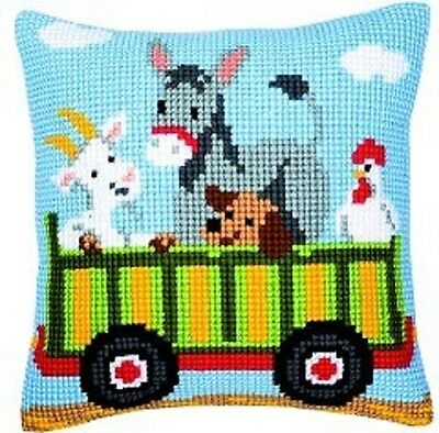 "Vervaco TRAILER 2 Chunky Cross Stitch Cushion Front Kit 16"" x 16"""