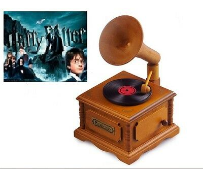 WOODEN PHONOGRAPH MUSIC BOX : Harry Potter Hedwig's Theme Soundtrack model