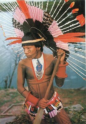 Alte Postkarte - Kudioéna, young Karajá chief of Bananal Islands