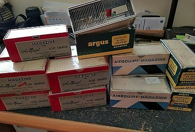 Lot of 13  Vintage Airequipt 36 Slide Trays PLUS 2 Argus Side Trays