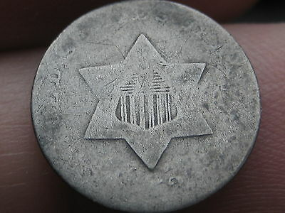 1852 Three 3 Cent Silver Piece- Old Type Coin