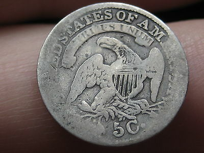 Silver Capped Bust Half Dime- Large 5C